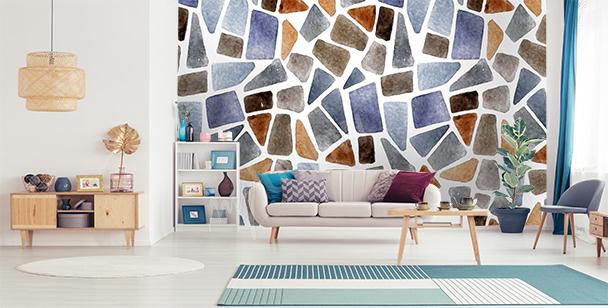 Fotomural muro de piedras de colores