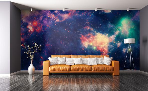 Fotomural nebulosa colorida
