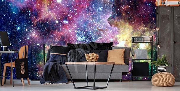 Fotomural nebulosas coloridas