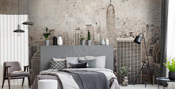 Fotomural Nueva York en estilo retro