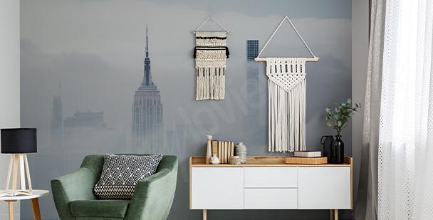 Fotomural Nueva York en la niebla