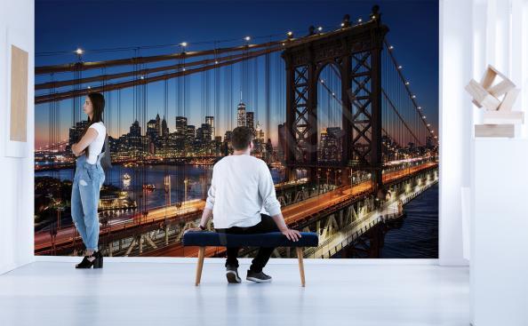 Fotomural Nueva York por la noche