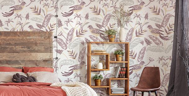 Fotomural pájaros para dormitorio