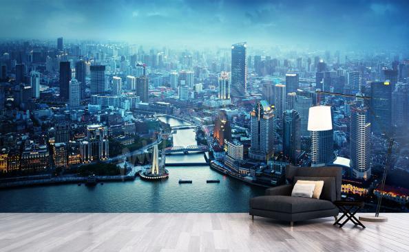 Fotomural panorama de Shanghai