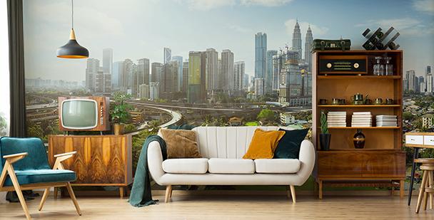 Fotomural panorama una ciudad en Malasia