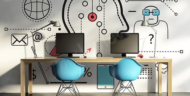 Fotomural para escuela: informática
