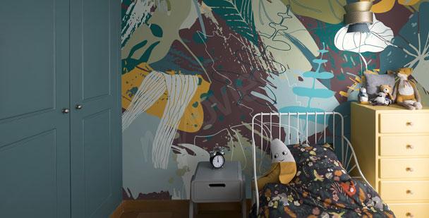 Fotomural para la habitación de niño - hojas