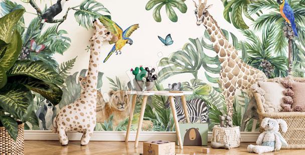 Fotomural para la habitación de niño - selva