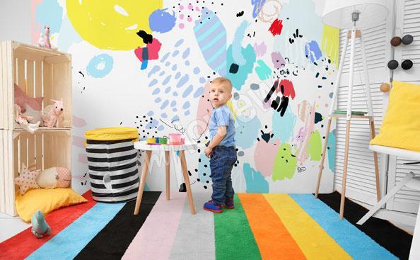 Fotomural para la habitación de un niño - arte ingenuo