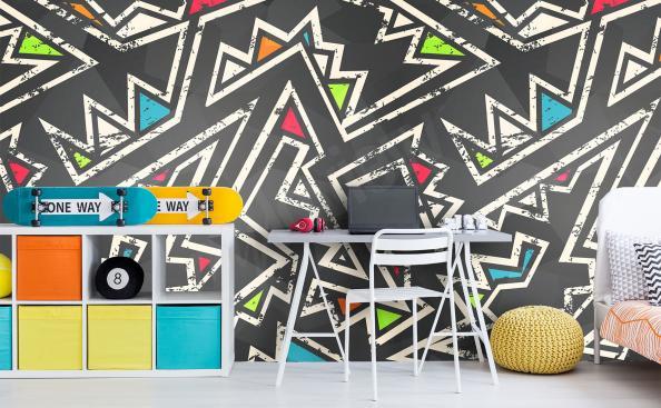 Fotomural para la habitación de un niño - zigzag colorido