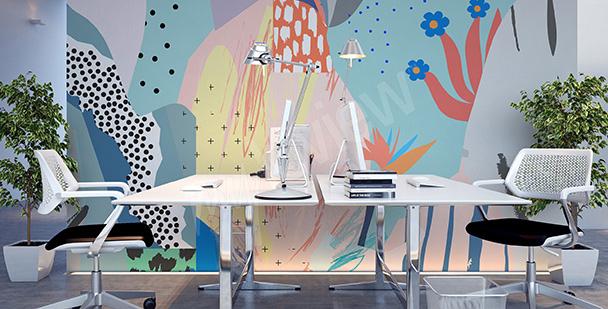 Fotomural para oficina abstracto de colores