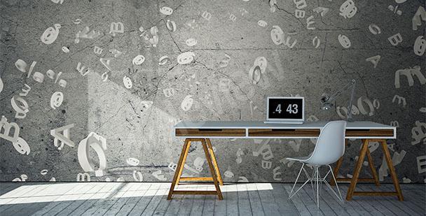 Fotomural para oficina cemento