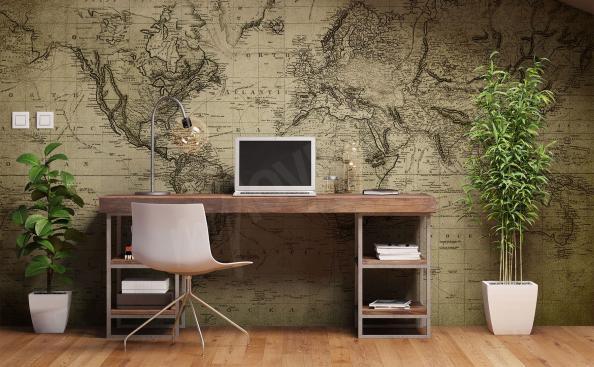 Fotomural para oficina mapa del mundo