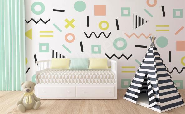 Fotomural para patrones abstractos de jardín de infantes