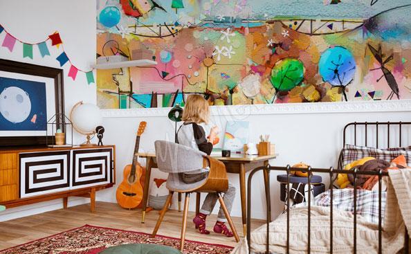 Fotomural para un niño - paisaje abstracto