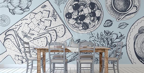 Fotomural para un restaurante griego