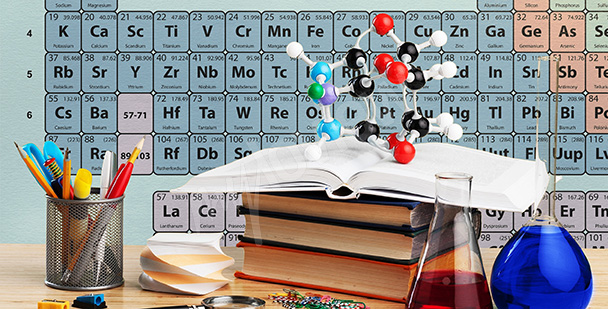 Fotomural para una clase de química
