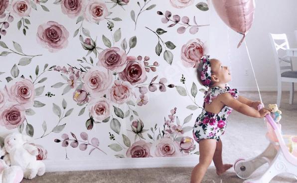 Fotomural para una niña - rosas