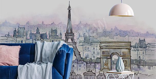 Fotomural París acuarela