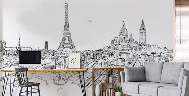 Fotomural París blanco y negro