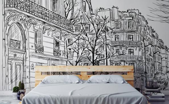 Fotomural Paris blanco y negro