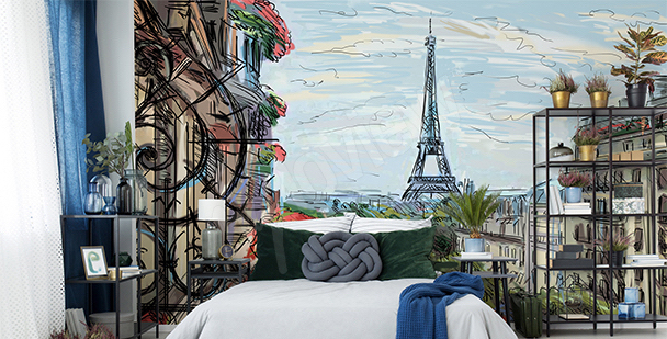 Fotomural París para el dormitorio