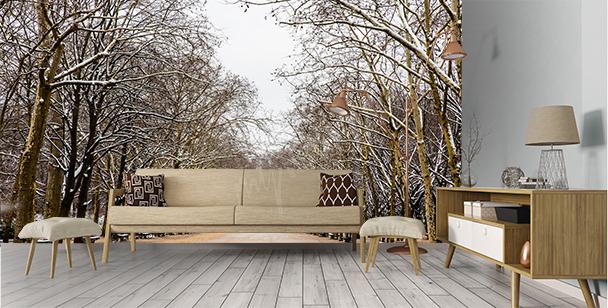 Fotomural parque invernal