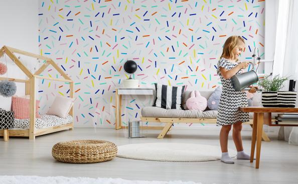 Fotomural patrón de colores
