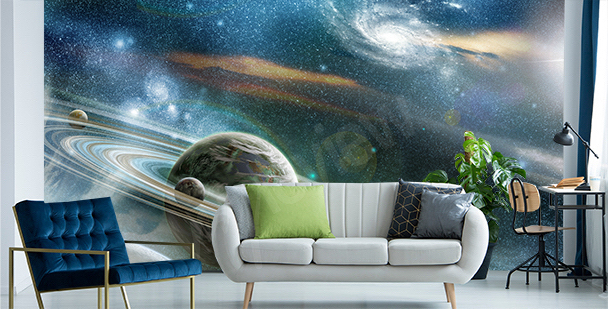 Fotomural planetas en una nebulosa