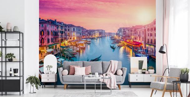 Fotomural Puesta de sol en Venecia