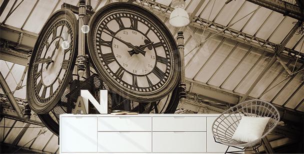 Fotomural reloj en la estación