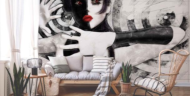 Fotomural retrato en blanco y negro