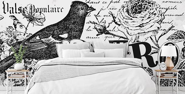 Fotomural retro en blanco y negro