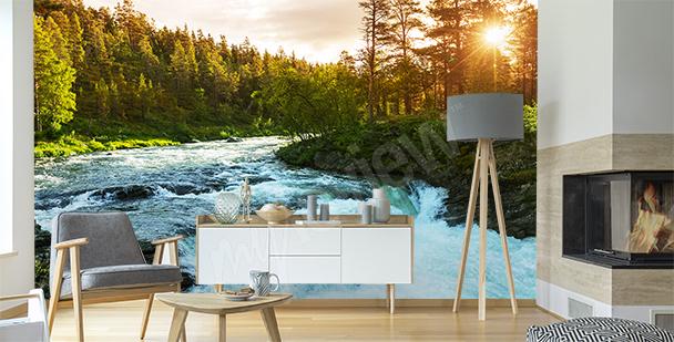 Fotomural río en Noruega