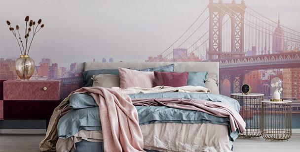 Fotomural romántico para dormitorio