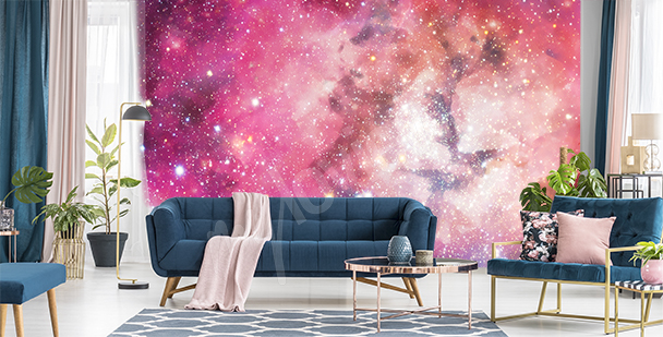 Fotomural rosa galaxia