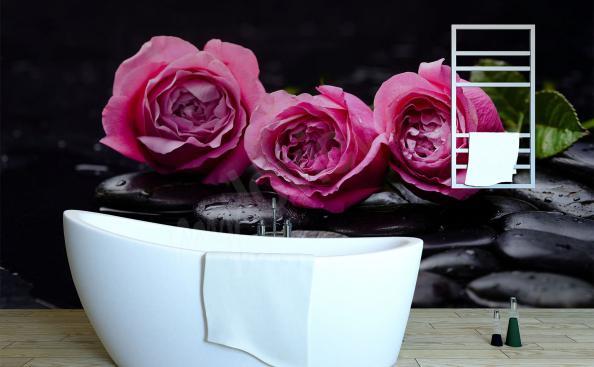 Fotomural rosas para el baño