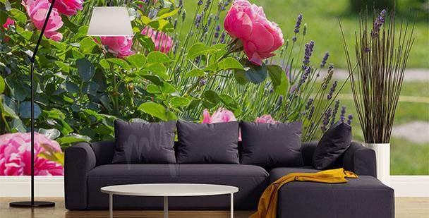 Fotomural rosas y lavanda