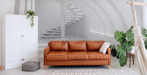 Fotomural salón con escaleras
