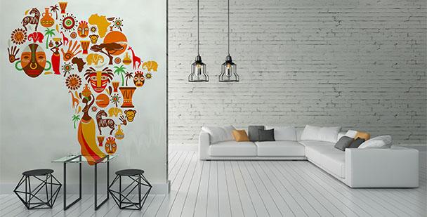 Fotomural símbolos de África