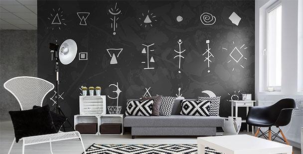 Fotomural símbolos en blanco y negro