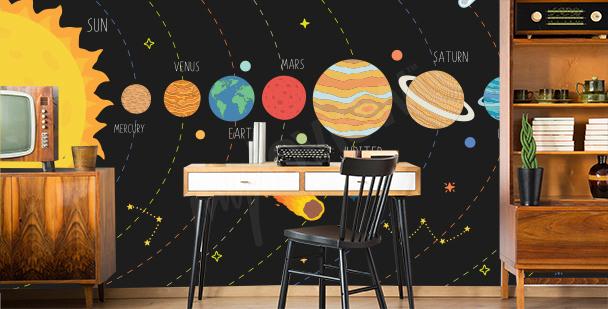 Fotomural sistema solar para oficina