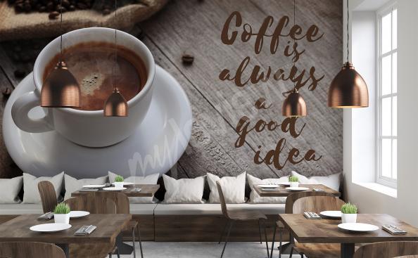 Fotomural taza de café 3d