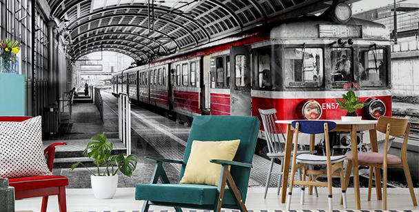 Fotomural tren en la estación