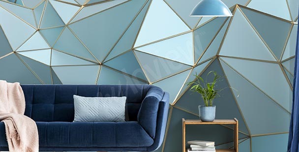 Fotomural triángulos azules