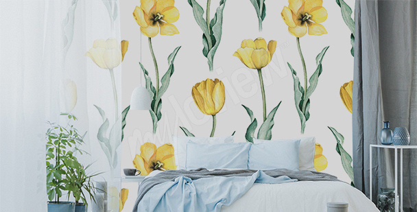 Fotomural tulipanes amarillos
