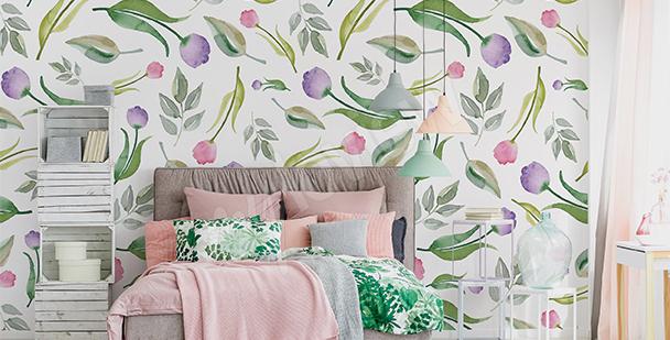 Fotomural tulipanes para dormitorio