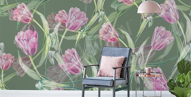 Fotomural tulipanes para salón