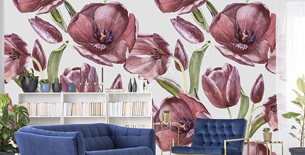 Fotomural tulipanes rojos