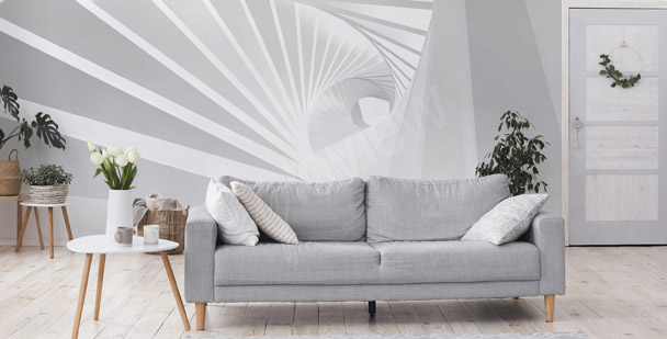 Fotomural túnel 3D - espiral